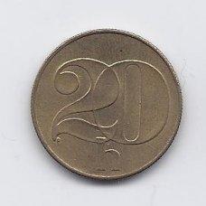 ČEKOSLOVAKIJA 20 HALERU 1991 KM # 143 VF