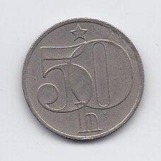 ČEKOSLOVAKIJA 50 HALERU 1982 KM # 89 VF