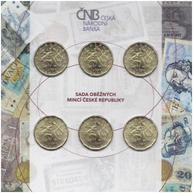 ČEKIJA 2018 - 2019 m. 6 X 20 KORUN BANKINIS RINKINYS 2
