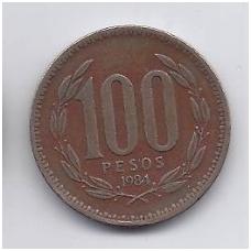 ČILĖ 100 PESOS 1984 KM # 226.1 VF