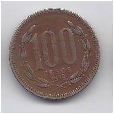 ČILĖ 100 PESOS 1989 KM # 226.2 VF
