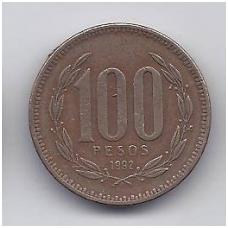 ČILĖ 100 PESOS 1992 KM # 226.2 VF