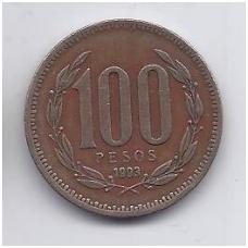 ČILĖ 100 PESOS 1993 KM # 226.2 VF