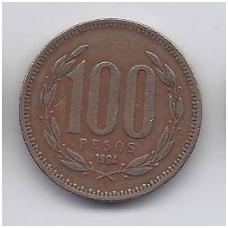 ČILĖ 100 PESOS 1994 KM # 226.2 VF