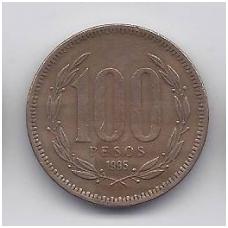 ČILĖ 100 PESOS 1995 KM # 226.2 VF