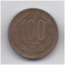 ČILĖ 100 PESOS 1996 KM # 226.2 VF