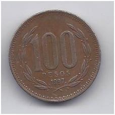 ČILĖ 100 PESOS 1997 KM # 226.2 VF