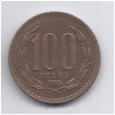 ČILĖ 100 PESOS 1998 KM # 226.2 VF