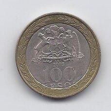 ČILĖ 100 PESOS 2005 KM # 236 VF