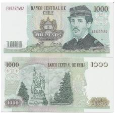 ČILĖ 1000 PESOS 1996 - 2002 P # 154f UNC