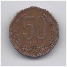 ČILĖ 50 PESOS 1994 KM # 219.2 VF