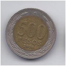 ČILĖ 500 PESOS 2000 KM # 235 VF