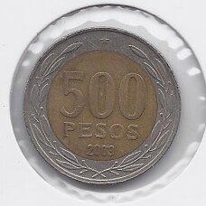 ČILĖ 500 PESOS 2003 KM # 235 VF