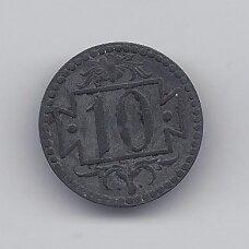 DANCIGAS 10 PFENNIG 1920 KM # Tn1 VF