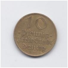 DANCIGAS 10 PFENNIG 1932 KM # 152 VF