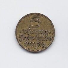 DANCIGAS 5 PFENNIG 1932 KM # 151 VF