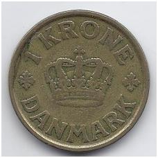 DANIJA 1 KRONE 1925 KM # 824.1 VF