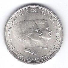 DANIJA 10 KRONER 1967 KM # 856 XF