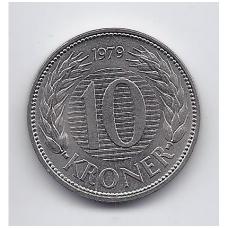 DANIJA 10 KRONER 1979 KM # 864 XF