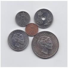 DENMARK 1976 5 COINS SET