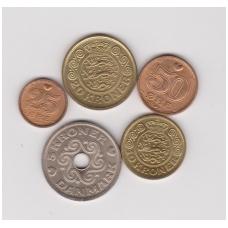 DANIJA 1990 m. monetų rinkinys