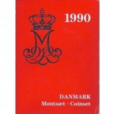 DANIJA 1990 m. oficialus bankinis rinkinys