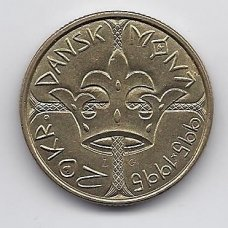 DANIJA 20 KRONER 1995 KM # 879 AU 1000 m. MONETOMS