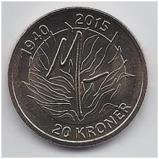 DANIJA 20 KRONER 2015 KM # new UNC 75tas KARALIENĖS GIMTADIENIS