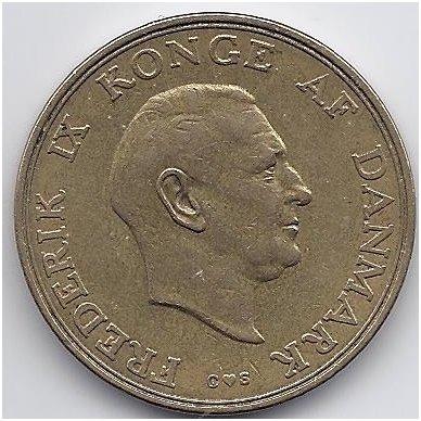 DANIJA 2 KRONER 1957 KM # 838.2 VF 2