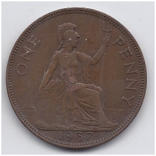 GREAT BRITAIN 1 PENNY 1937 KM # 845 VF