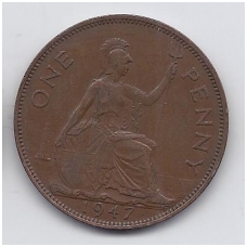 DIDŽIOJI BRITANIJA 1 PENNY 1947 KM # 845 VF