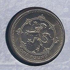 DIDŽIOJI BRITANIJA 1 POUND 1999 KM # 998 UNC (specialiame voke)