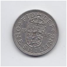 DIDŽIOJI BRITANIJA 1 SHILLING 1955 KM # 904 VF