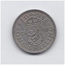 DIDŽIOJI BRITANIJA 1 SHILLING 1955 KM # 905 VF