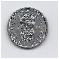 DIDŽIOJI BRITANIJA 1 SHILLING 1956 KM # 904 VF