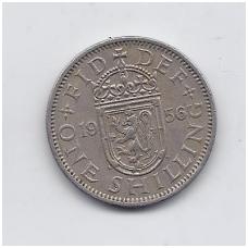 DIDŽIOJI BRITANIJA 1 SHILLING 1956 KM # 905 VF