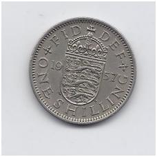DIDŽIOJI BRITANIJA 1 SHILLING 1957 KM # 904 VF