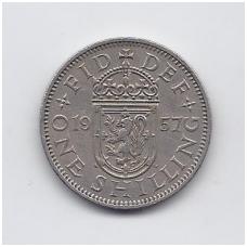 DIDŽIOJI BRITANIJA 1 SHILLING 1957 KM # 905 VF
