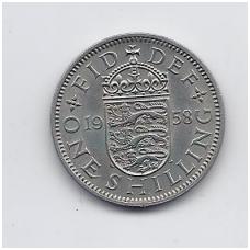 DIDŽIOJI BRITANIJA 1 SHILLING 1958 KM # 904 VF