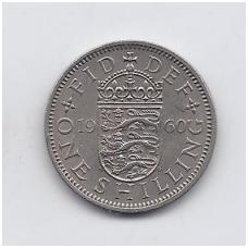 DIDŽIOJI BRITANIJA 1 SHILLING 1960 KM # 904 VF