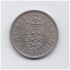 DIDŽIOJI BRITANIJA 1 SHILLING 1962 KM # 904 VF
