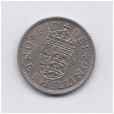DIDŽIOJI BRITANIJA 1 SHILLING 1963 KM # 904 VF