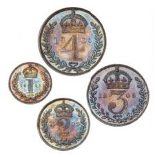 DIDŽIOJI BRITANIJA 1905 m. 1,2,3,4 pencai (MAUNDY SET)