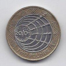 DIDŽIOJI BRITANIJA 2 POUNDS 2001 KM # 1014 VF Markonio telegrafo šimtmetis