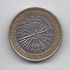 DIDŽIOJI BRITANIJA 2 POUNDS 2005 KM # 1052 VF Parako sąmokslas
