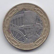 DIDŽIOJI BRITANIJA 2 POUNDS 2006 KM # 1060 VF Isambard K. Brunel