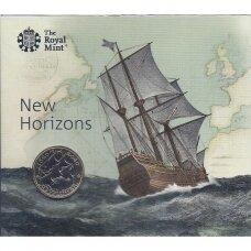 DIDŽIOJI BRITANIJA 2 POUNDS 2020 KM # new BU Mayflower laivas