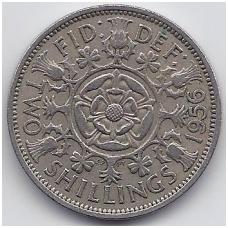 GREAT BRITAIN 2 SHILLINGS 1956 KM # 906 VF