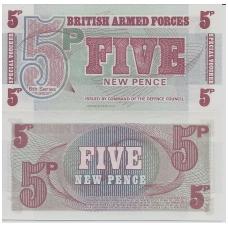 DIDŽIOJI BRITANIJA 5 PENCE 1972 P # M47 UNC