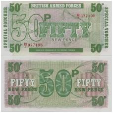 DIDŽIOJI BRITANIJA 50 PENCE 1972 (ND) P # M49 UNC